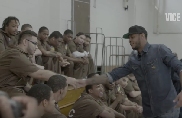 Culture Video] Carmelo Anthony Visits Rikers Island